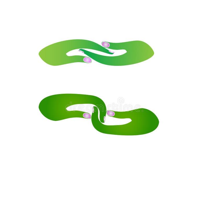 Трясти логотип руки иллюстрация штока