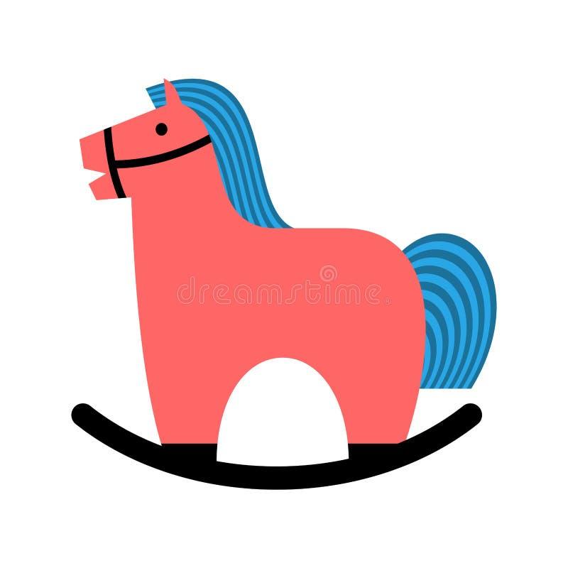 Тряся лошадь Яблоки лошади игрушки детей иллюстрация штока