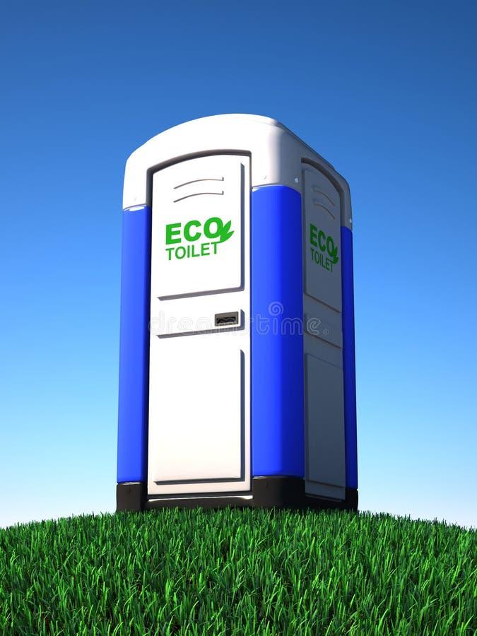 туалет портативной машинки травы бесплатная иллюстрация