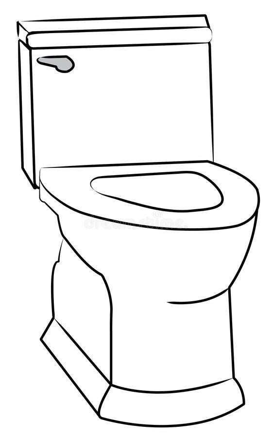 туалет иллюстрация штока