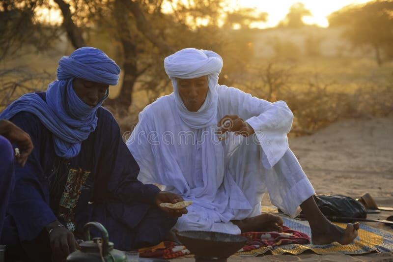 Туареги в Тимбукту стоковые фото