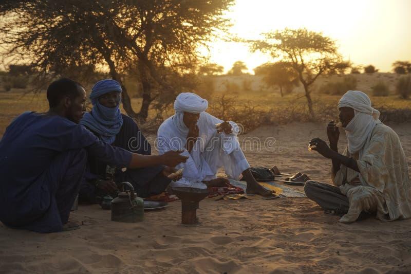 Туареги в Тимбукту стоковое фото rf