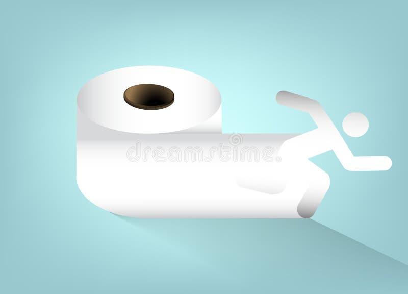 туалет продуктов бумаги гигиены чистки домашний иллюстрация штока