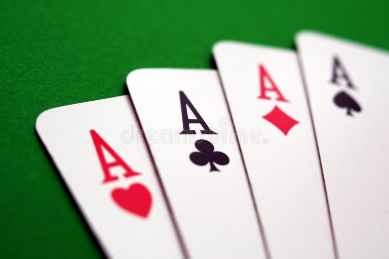 Тузы покера стоковые изображения rf