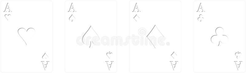 Туз покера иллюстрация вектора
