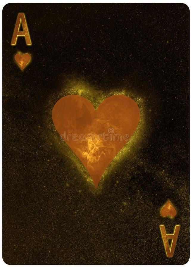 Туз предпосылки конспекта игральной карты сердец стоковые фото
