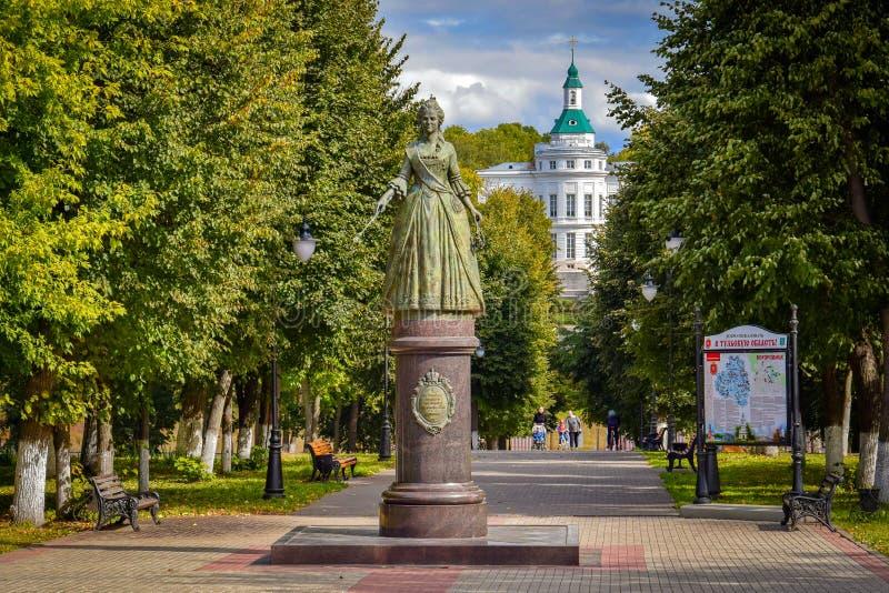 Palace park in Bogoroditsk, Tula region stock photos