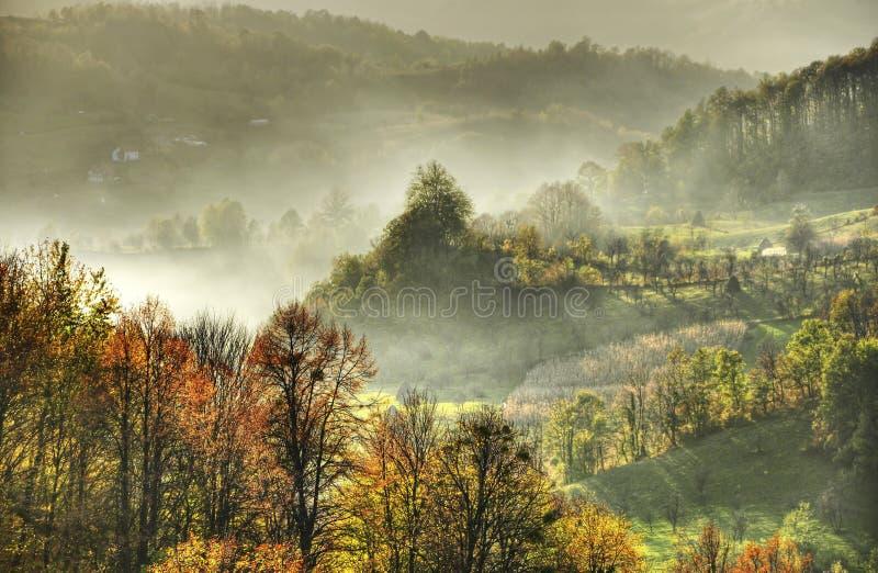 Туманная гора стоковые фото