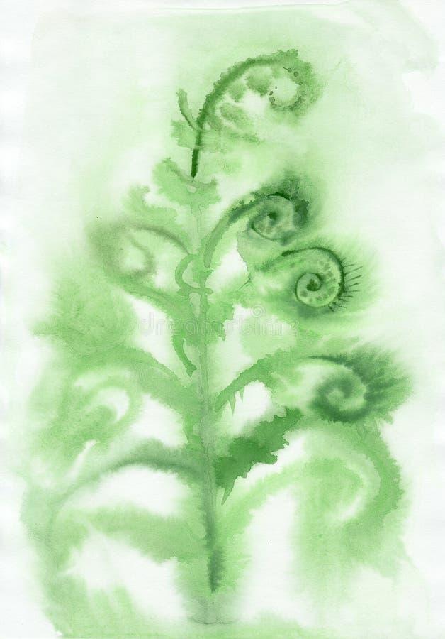 Туманная предпосылка папоротника бесплатная иллюстрация