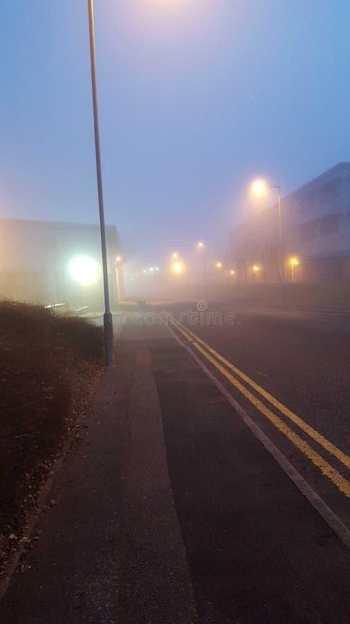 Туманная улица стоковые изображения
