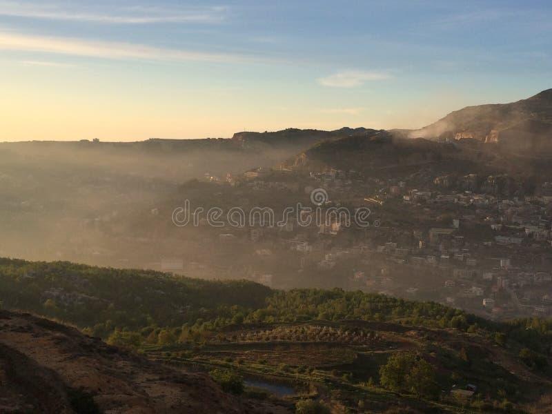 туманнейшая гора стоковое фото