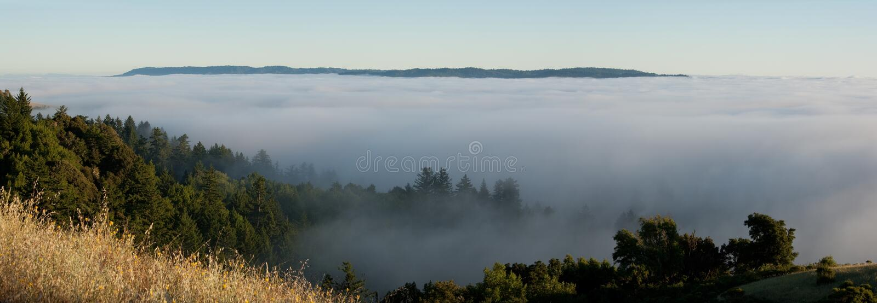 туманнейшая панорама горы стоковое фото rf