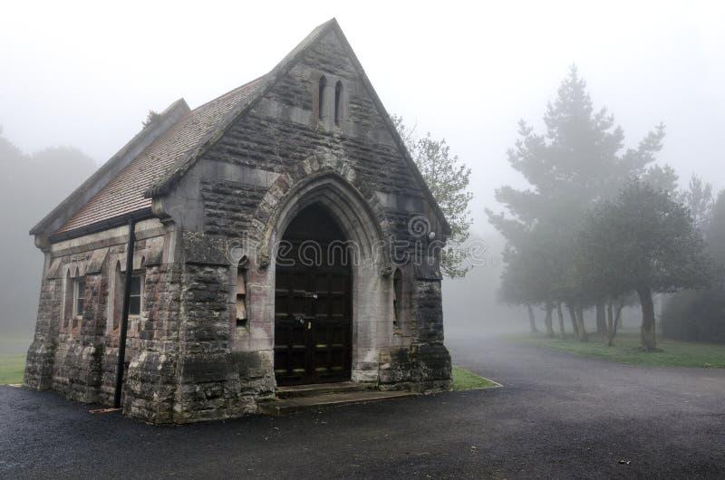 Туманное кладбище стоковое изображение rf