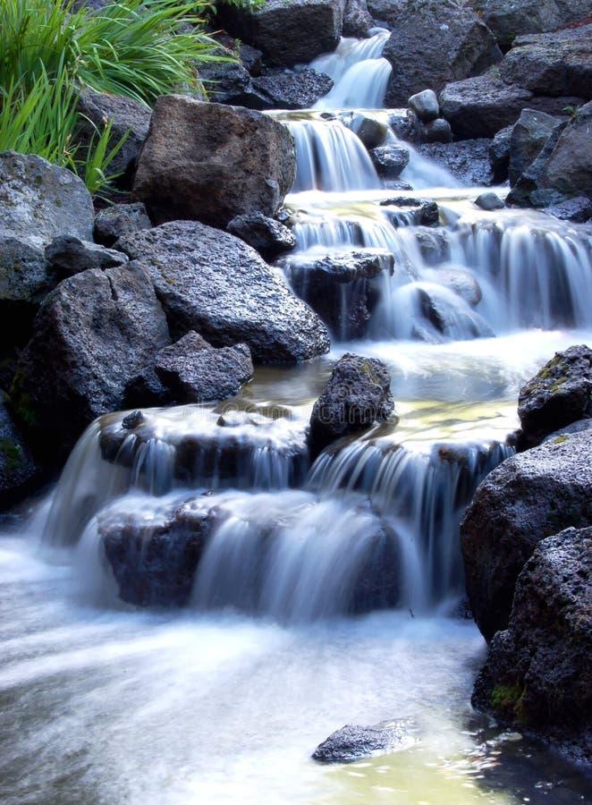 туманный водопад стоковое фото rf