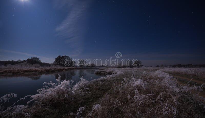 Туманный восход солнца осени стоковое изображение