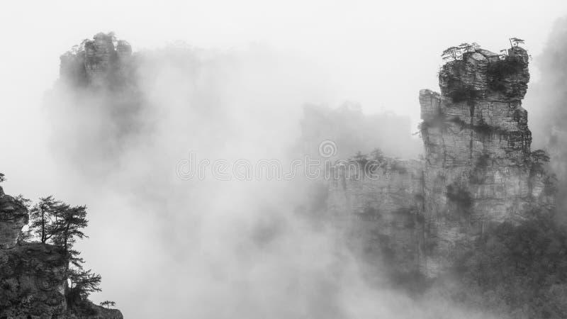 Туманный штендер Zhangjiajie стоковое изображение rf
