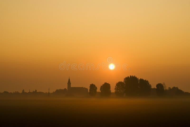 туман города стоковое изображение