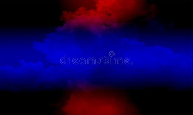 Туман изолированный на черноте Туманная предпосылка colourfull Влияние тумана и тумана на черной предпосылке Текстура дыма иллюстрация штока
