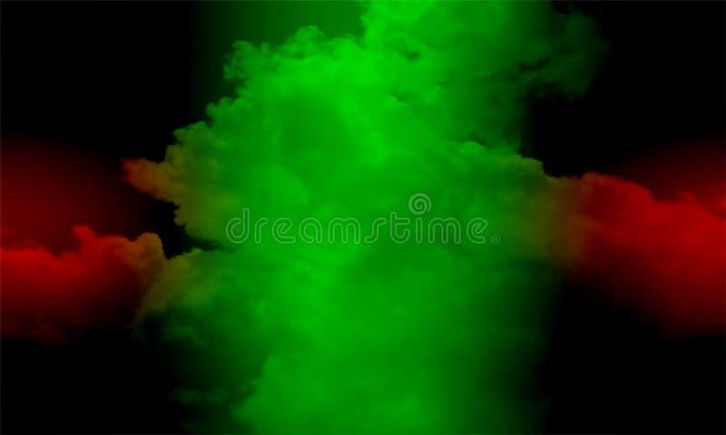 Туман изолированный на черноте Туманная предпосылка colourfull Влияние тумана и тумана на черной предпосылке Текстура дыма бесплатная иллюстрация