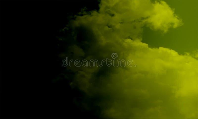 Туман изолированный на черноте Туманная предпосылка colourfull Влияние тумана и тумана на черной предпосылке Текстура дыма иллюстрация вектора