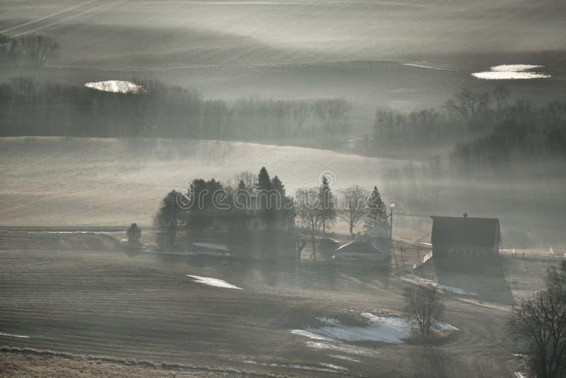Туман на ферме стоковые изображения