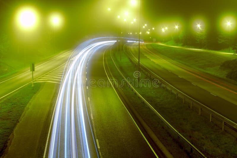 Туман на шоссе стоковое фото