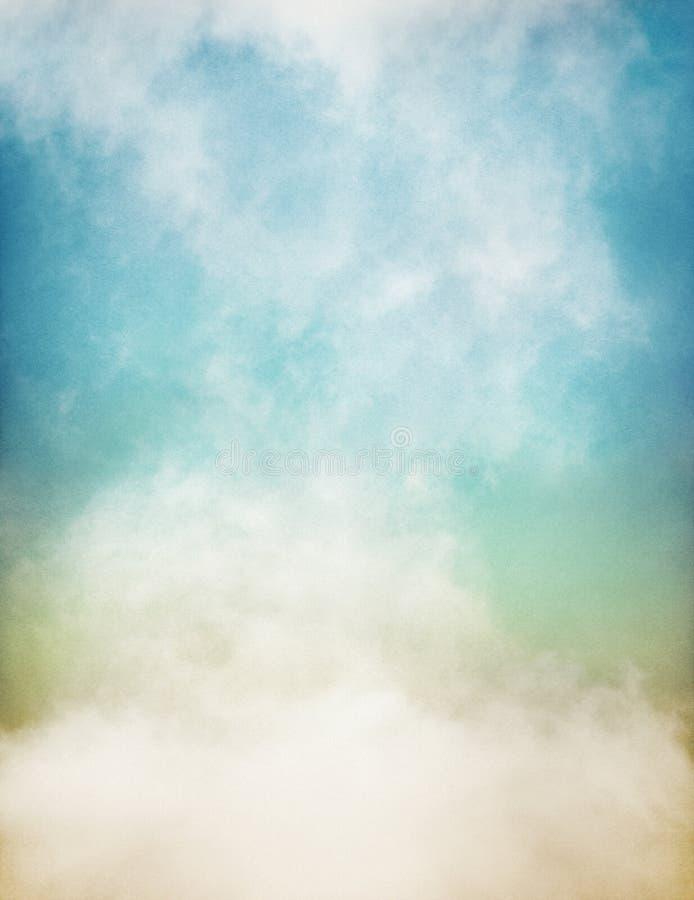 Туман покрашенный нежностью на бумаге иллюстрация штока