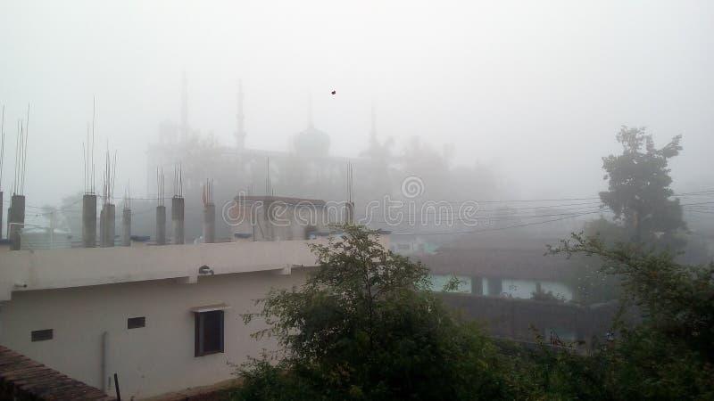 Туман пробуя обтереть близость стоковое фото rf