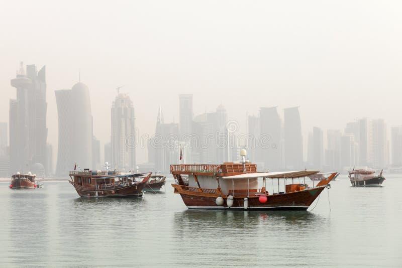 туман doha стоковые изображения