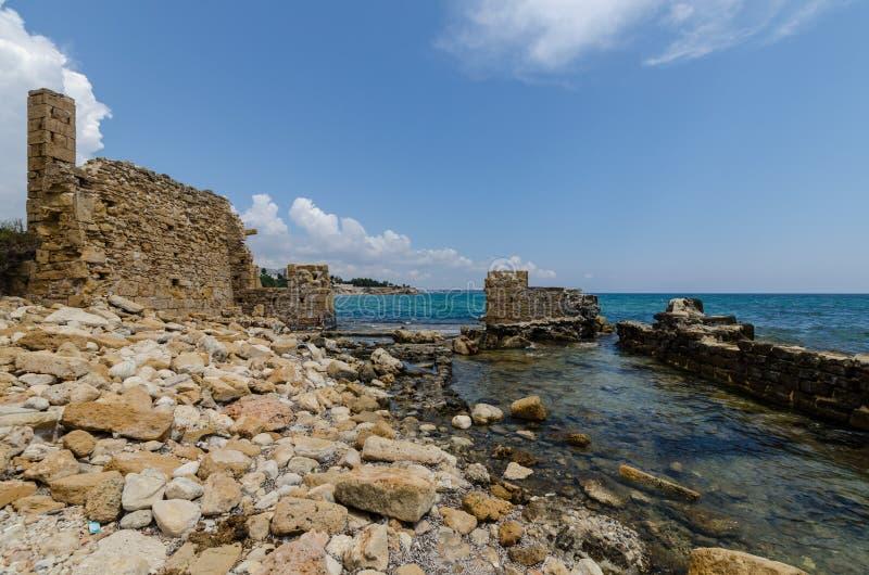 Тунец рыбной ловли тунца руин в Avola стоковая фотография rf