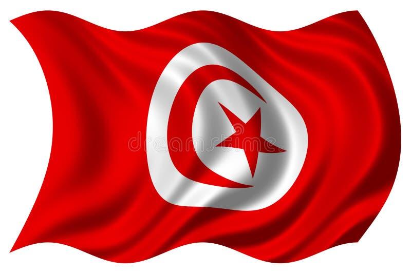 Тунис изолированный флагом стоковое фото rf