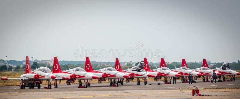 Турецкая звезда Airplains стоковая фотография