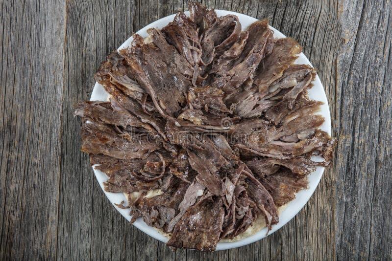 Турецкая кухня Doner Doner говядины Shawarma турецкое традиционное стоковые фотографии rf