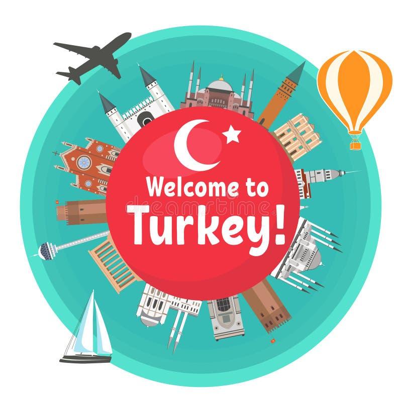 Турецкая привлекательность иллюстрация штока