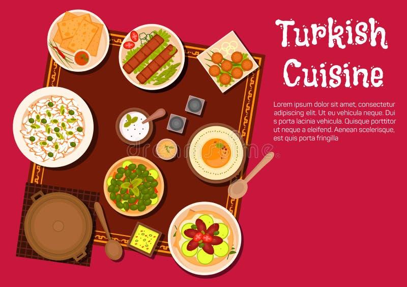 Турецкие еда и десерты кухни бесплатная иллюстрация