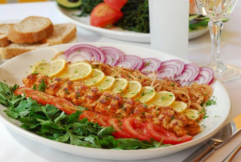 Турецкие Kebab и Raki стоковое фото