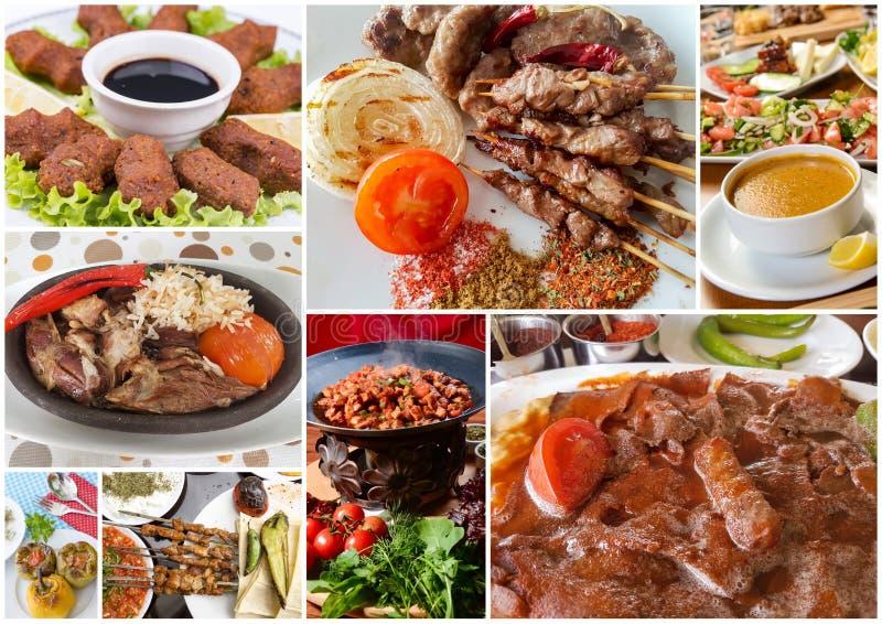 Турецкий коллаж еды стоковые изображения