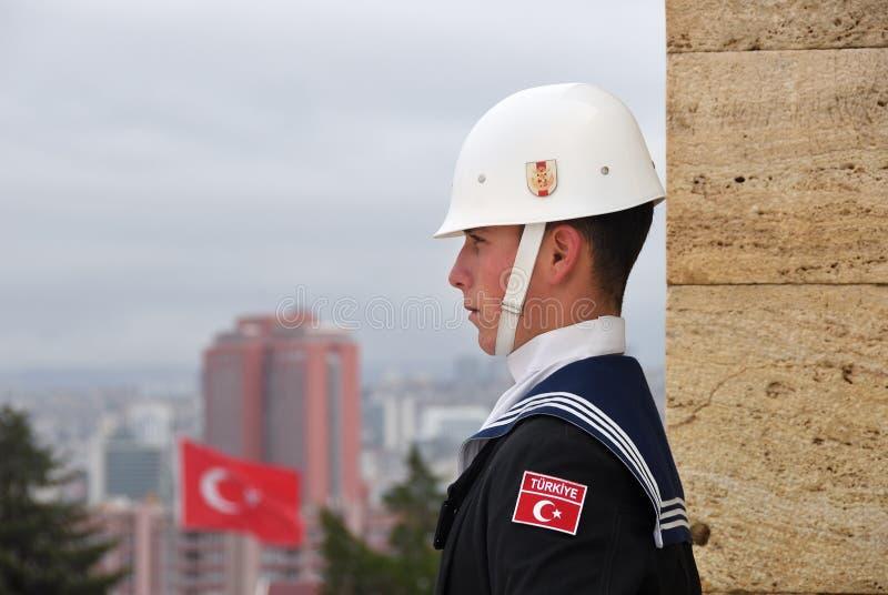 Турецкий солдат в Анкаре стоковое фото rf