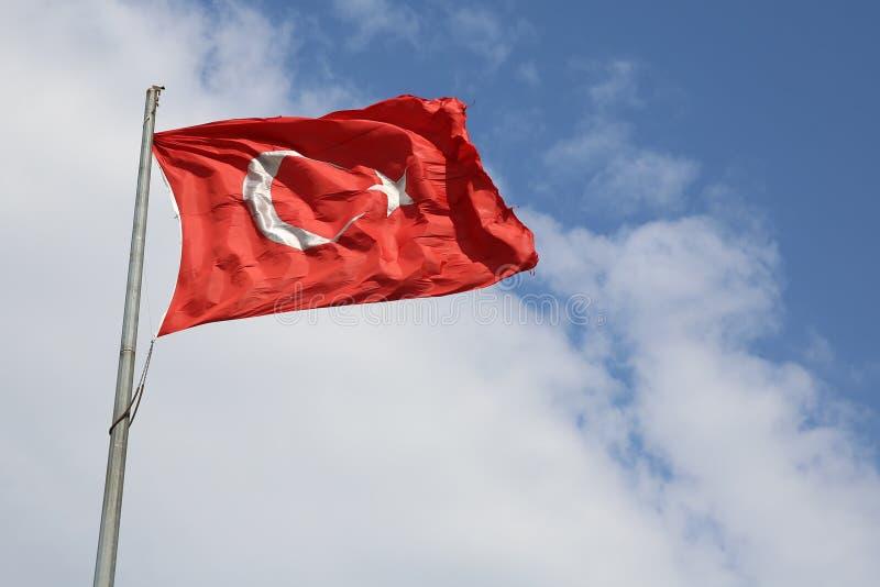 Турецкий флаг стоковая фотография rf