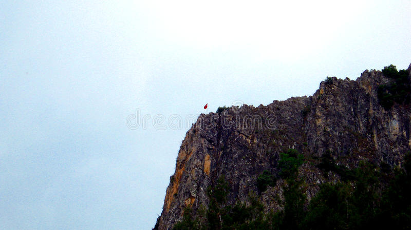 Турецкий флаг стоковые фотографии rf