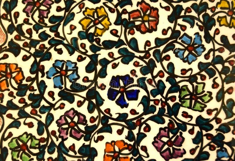 Турецкий цветочный узор стоковое фото rf