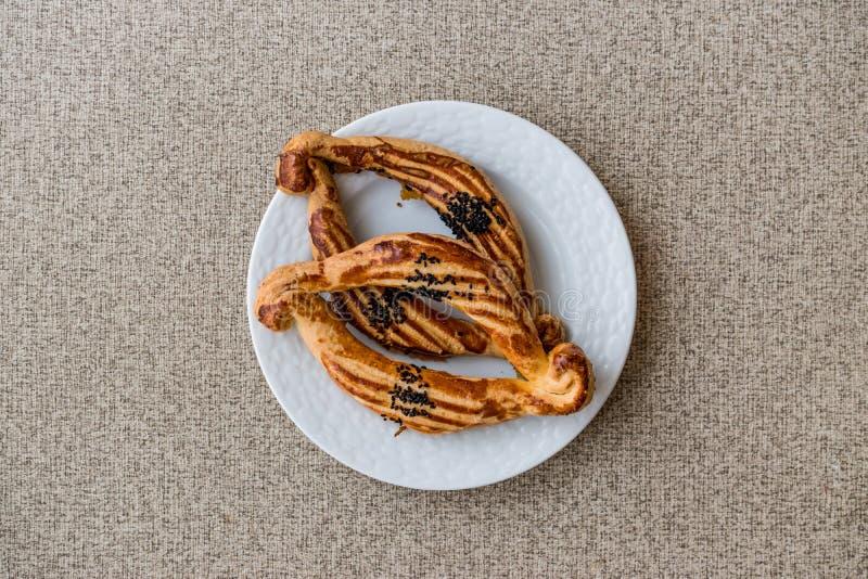 Турецкое солёное печенье Catal с черным тимоном стоковая фотография rf