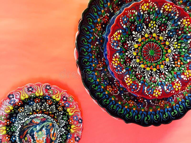 Турецкой плита напечатанная рукой стоковое изображение