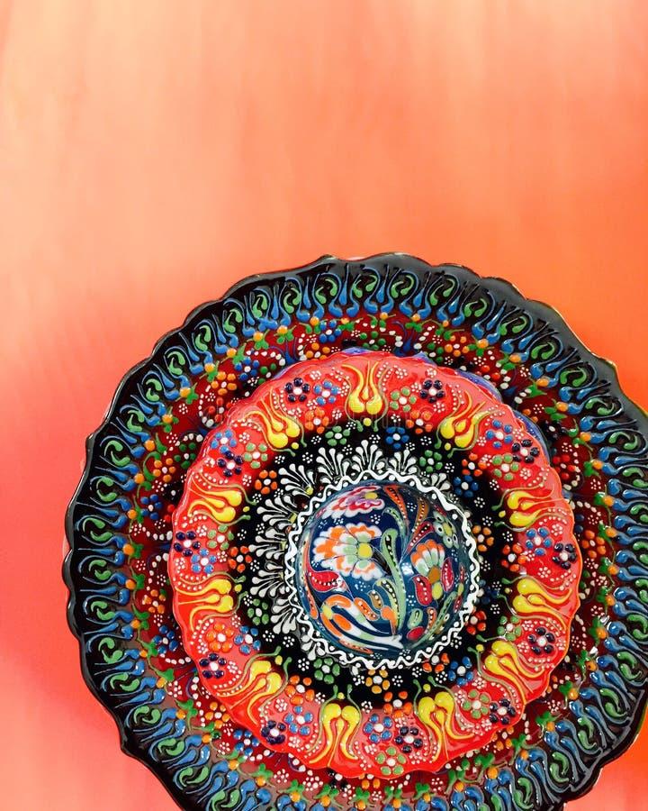 Турецкой плита напечатанная рукой стоковое изображение rf