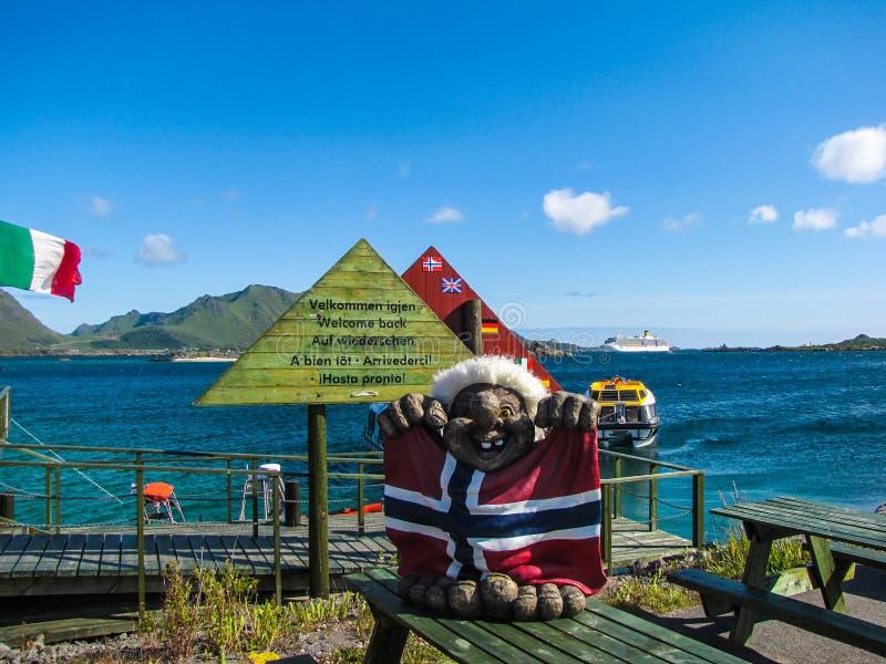 Туризм в концепции Норвегии стоковое фото
