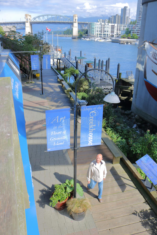 Туризм и рынок острова Granville стоковые фото