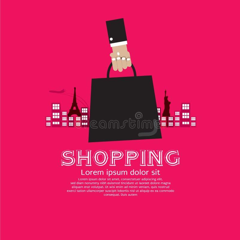 Туризм покупок. иллюстрация вектора