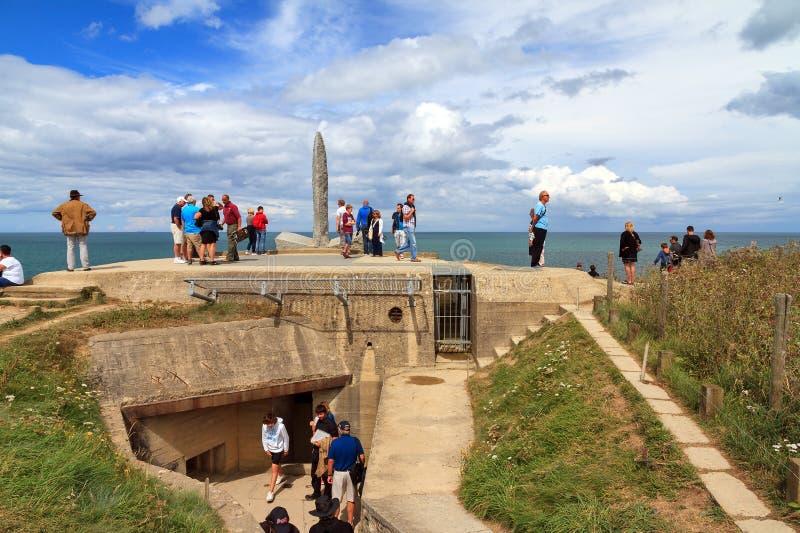 Туризм Pointe du hoc стоковая фотография