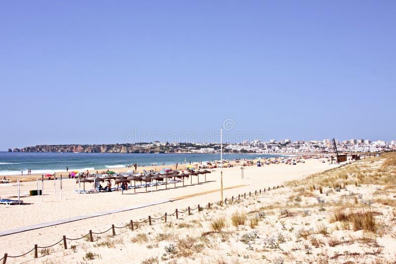 туризм praia Португалии meia lagos стоковое фото rf