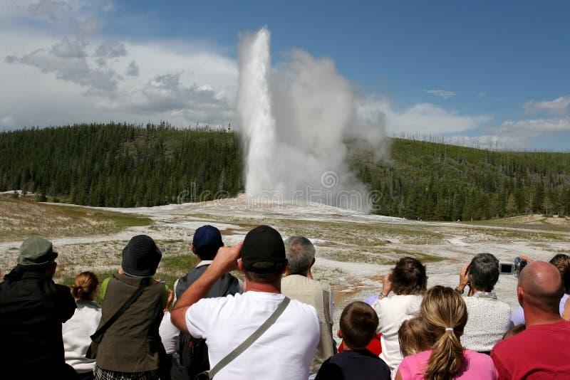 туризм Yellowstone Стоковое Изображение RF